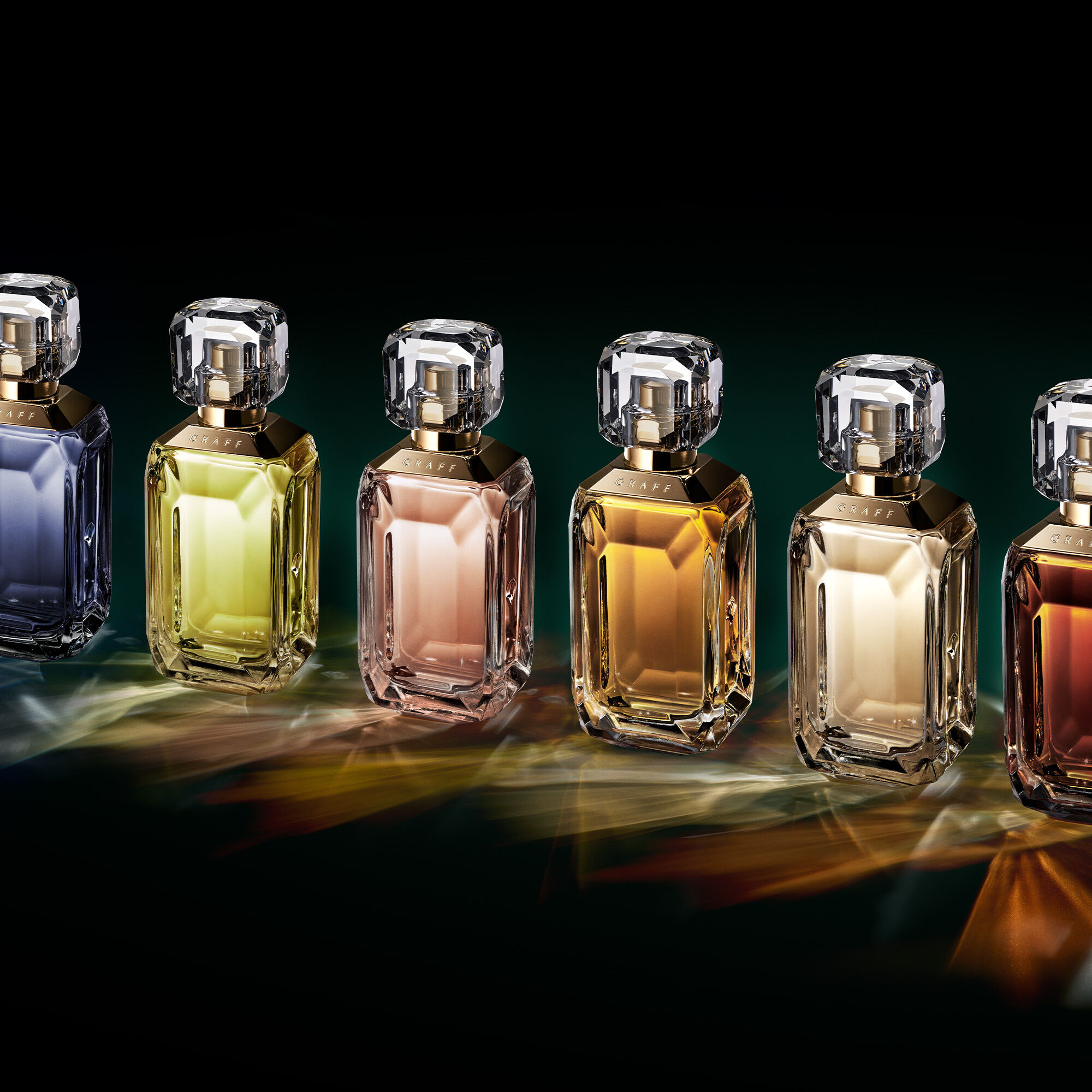 Six bottles of the Graff Lesedi La Rona Fragrance