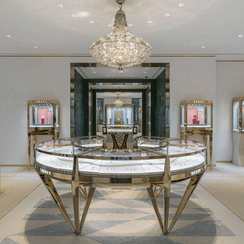 Interior of the Graff Monaco Hotel de Paris jewellery boutique