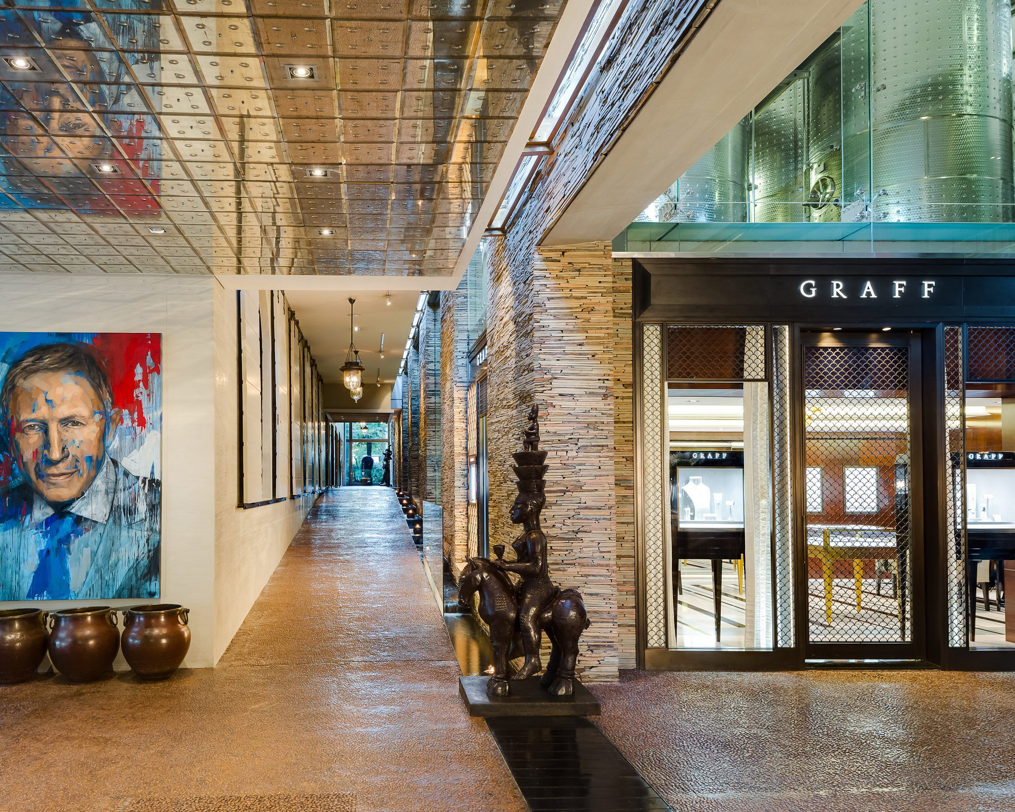 Exterior of the Graff jewellery boutique in the Delaire Graff Estate in South Africa