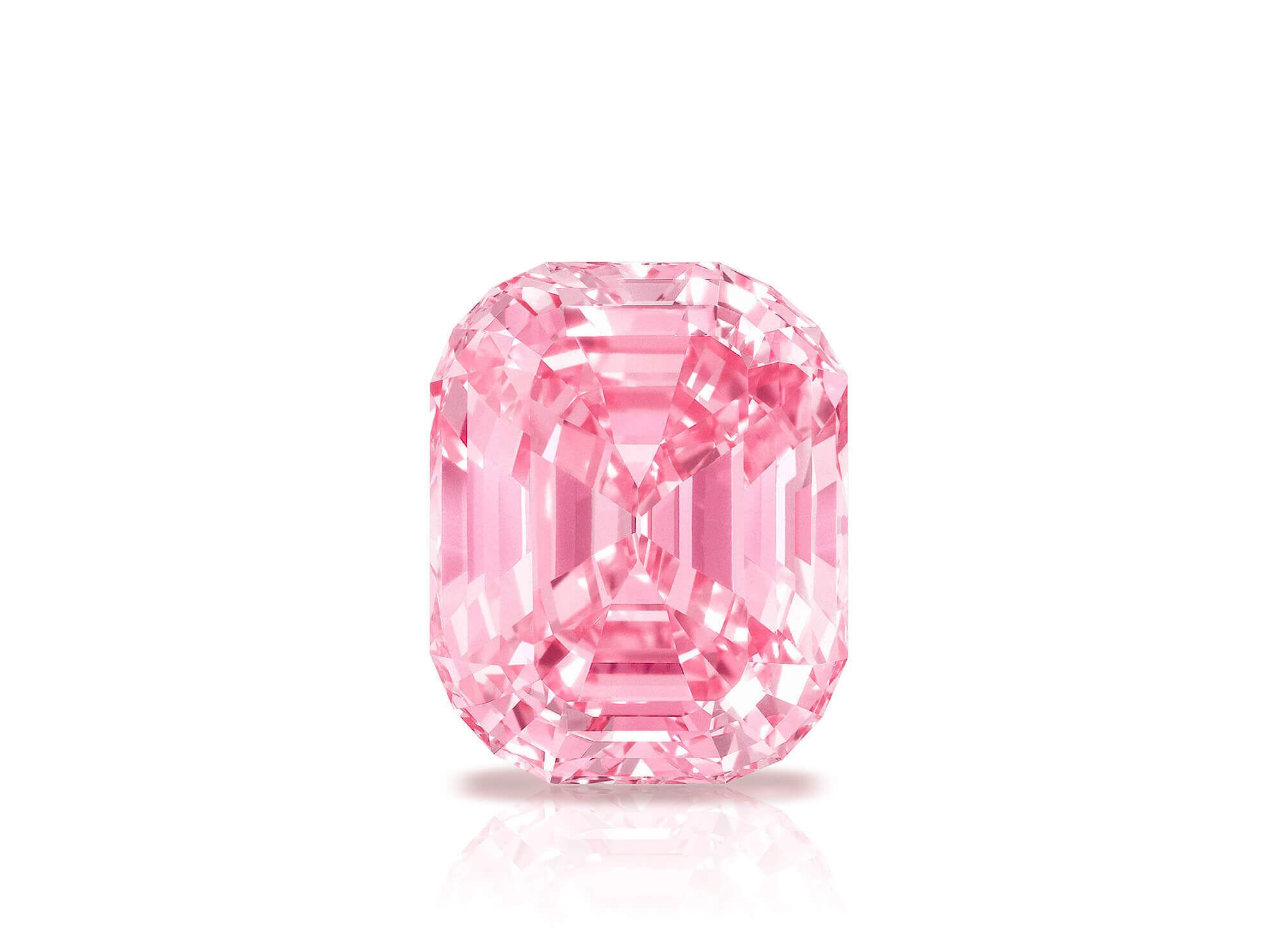 The Graff Pink - a 23.88 carats Fancy Vivid Pink Internally Flawless Type IIa diamond