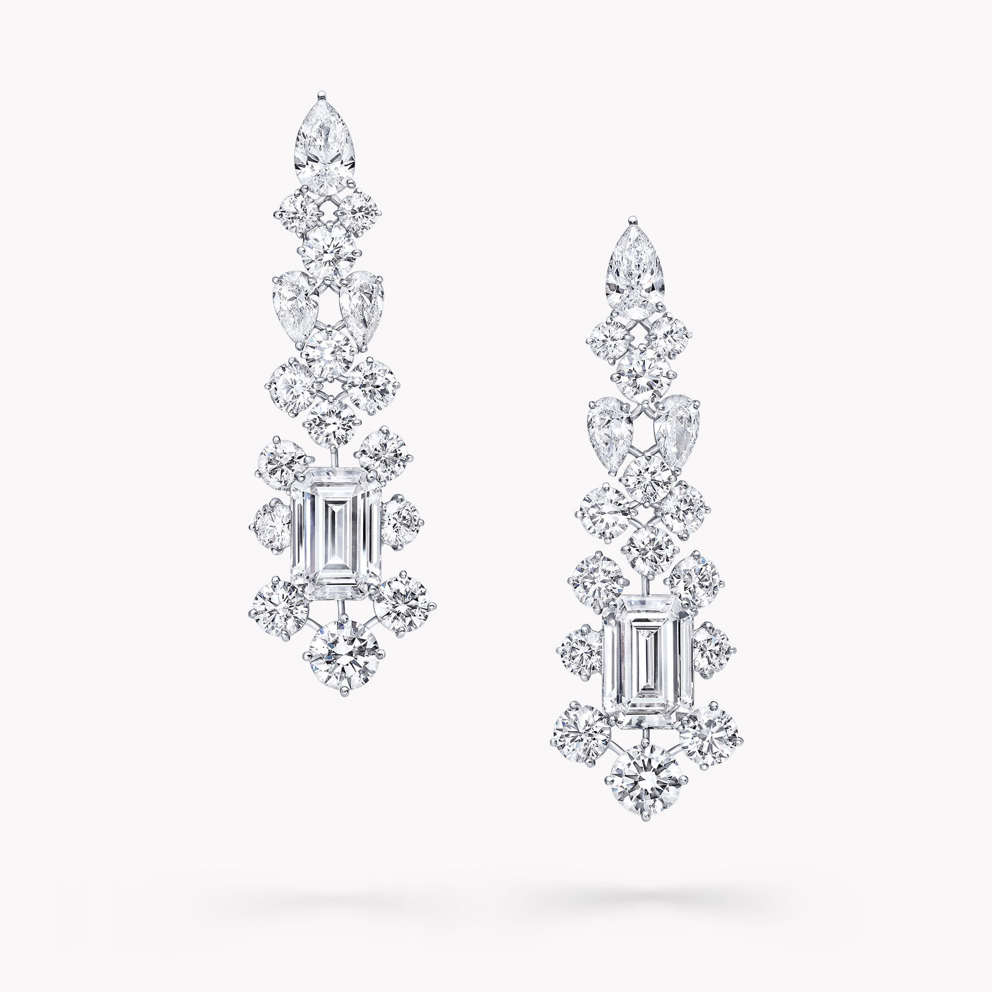 A pair of Graff white diamond high jewellery earrings