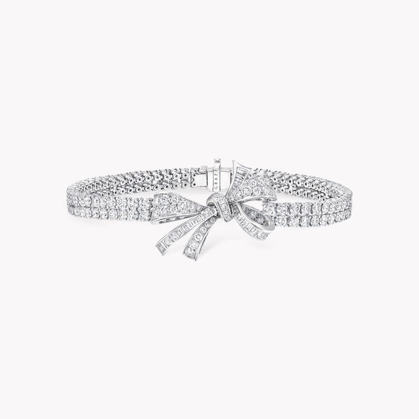 Bow Diamond Double Strand Bracelet, , hi-res