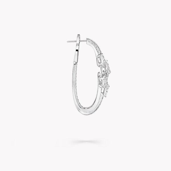 Duet Diamond Triple Hoop Earrings, , hi-res