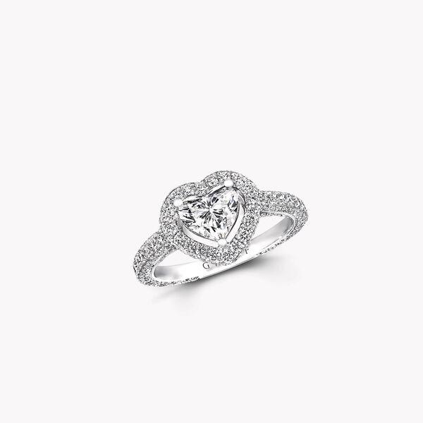 Constellation Heart Shape Diamond Engagement Ring, , hi-res