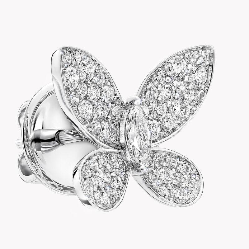Pavé Butterfly Diamond Stud Earrings, , hi-res