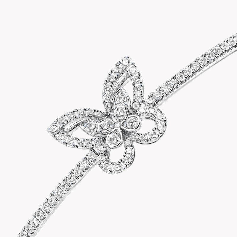 Butterfly Silhouette Diamond Bangle, , hi-res