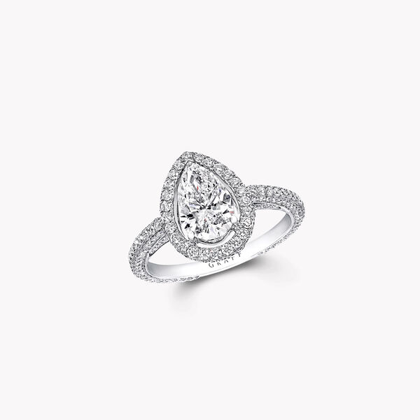 Constellation Pear Shape Diamond Engagement Ring, , hi-res