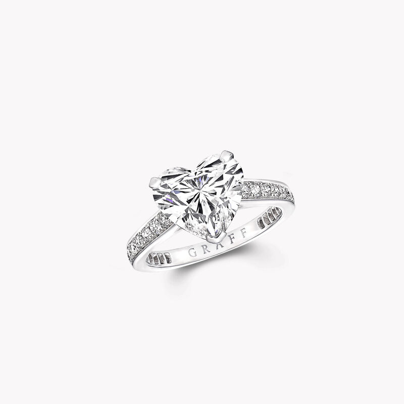Flame Heart Shape Diamond Engagement Ring, , hi-res