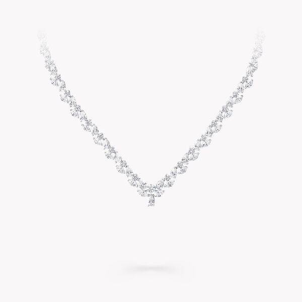 Multi-shape Diamond Necklace, , hi-res