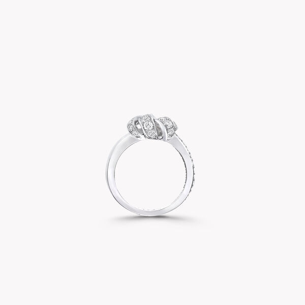 Knot Pavé Diamond Ring, , hi-res