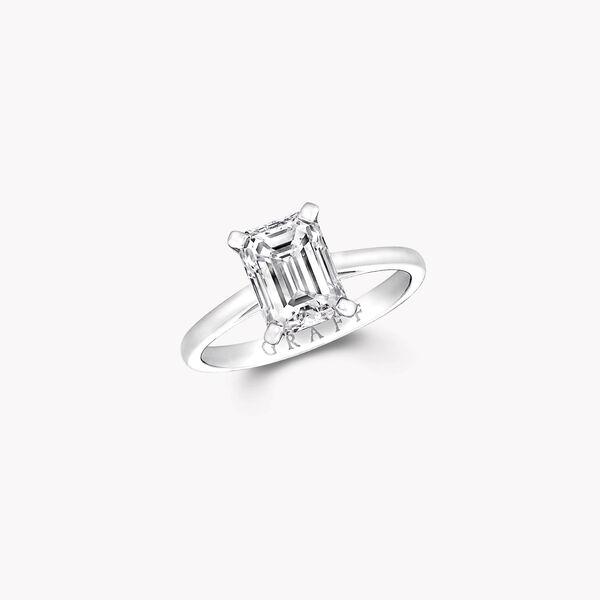 Paragon Emerald Cut Diamond Engagement Ring, , hi-res