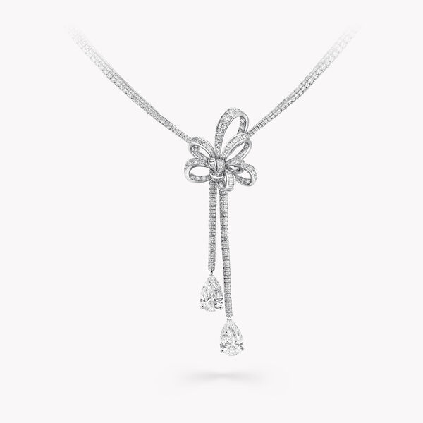 Inspired by Twombly Diamond Double Drop High Jewellery Necklace, , hi-res