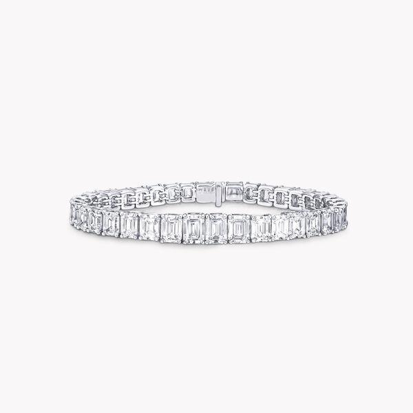 Emerald Cut Diamond Bracelet, , hi-res