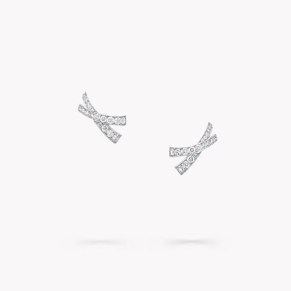 Kiss Pavé Diamond Stud Earrings, , hi-res