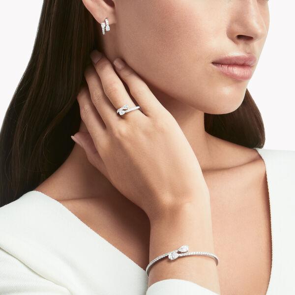 Duet Diamond Hoop Earrings, , hi-res