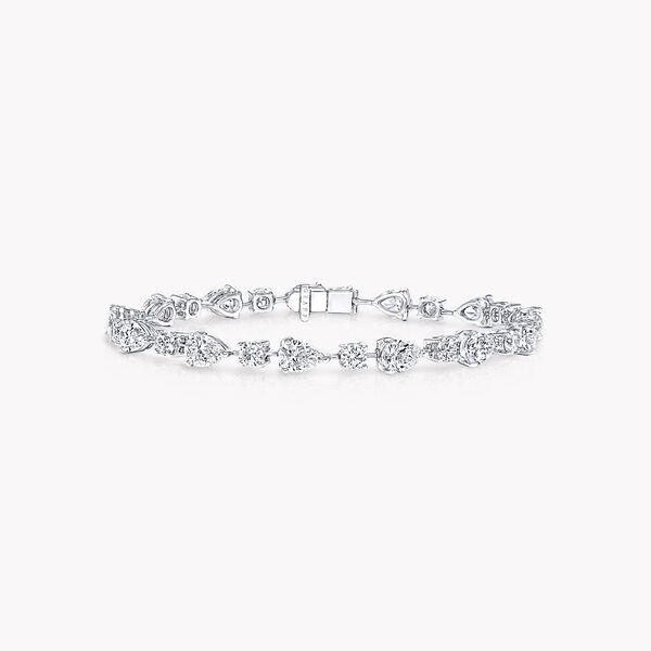 Multi-shape Diamond Bracelet, , hi-res