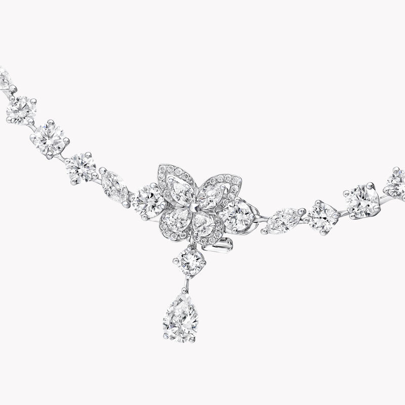 Classic Butterfly Diamond Necklace, , hi-res