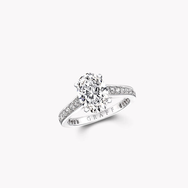 Flame Oval Diamond Engagement Ring, , hi-res