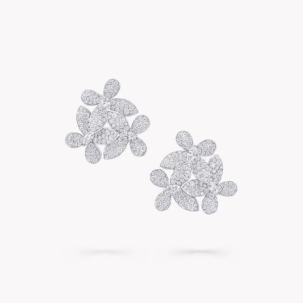 Triple Pavé Butterfly Diamond Earrings, , hi-res