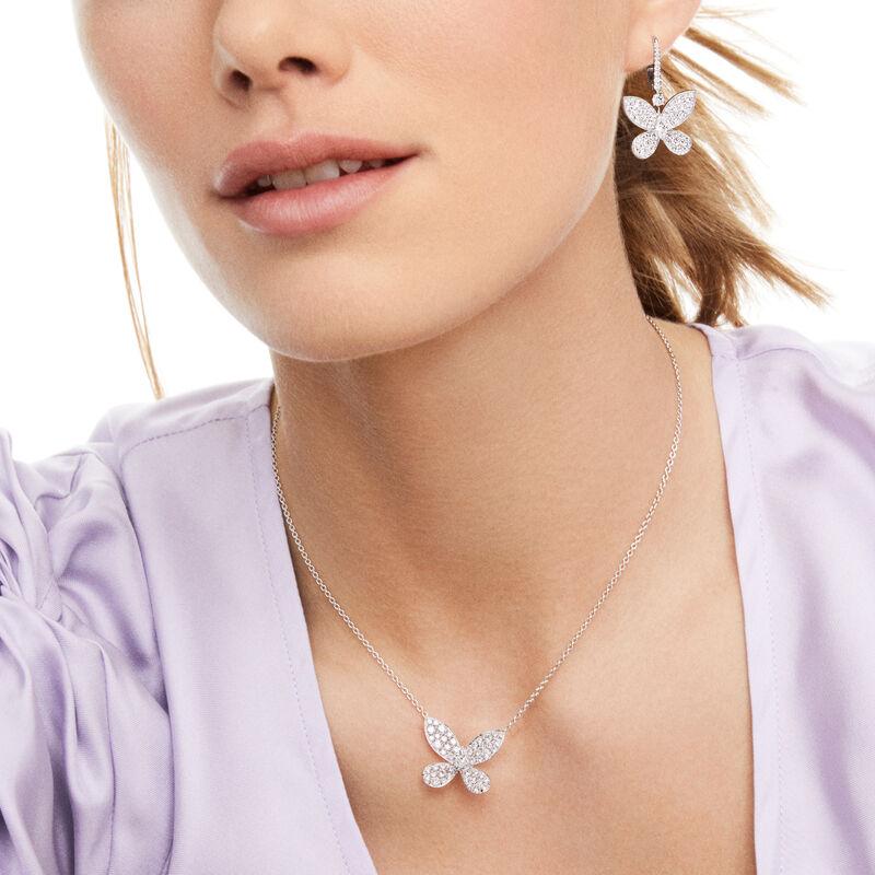 Pavé Butterfly Diamond Pendant, , hi-res