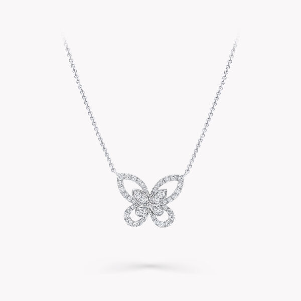 Butterfly Silhouette Diamond Mini Pendant, , hi-res