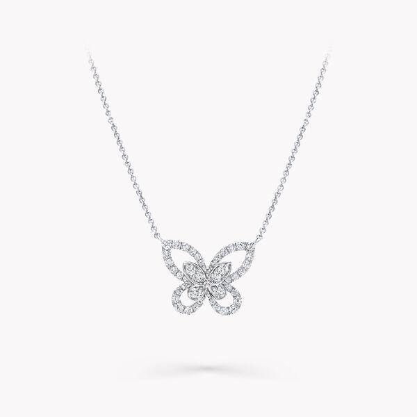 Butterfly Silhouette Diamond Mini Pendant, , hi-res