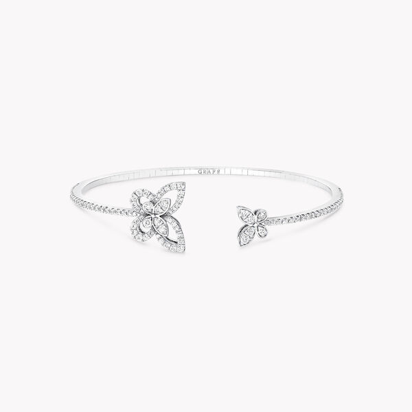 Butterfly Silhouette Open Diamond Bangle, , hi-res