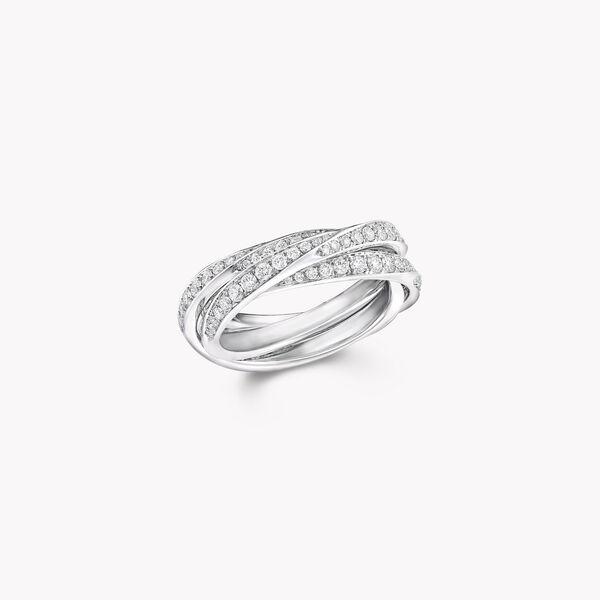 Triple Spiral Pavé Diamond Ring, , hi-res