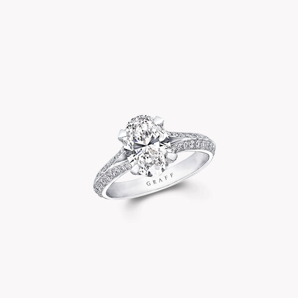 Legacy Oval Diamond Engagement Ring, , hi-res
