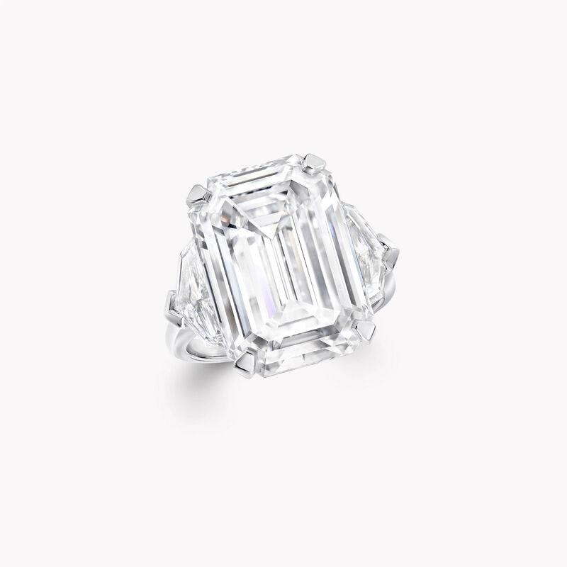 Emerald Cut Diamond High Jewellery Ring, , hi-res