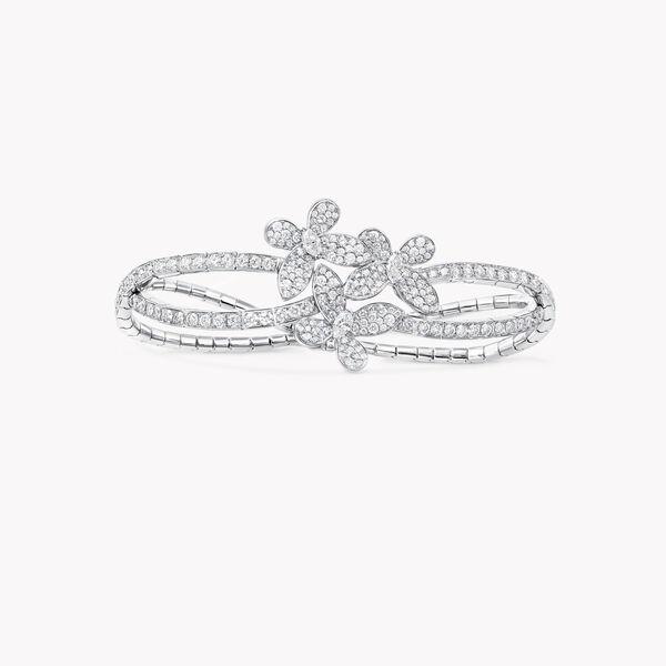 Triple Pavé Butterfly Diamond Bracelet, , hi-res