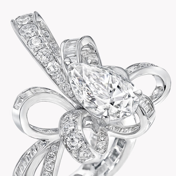 Inspired by Twombly Pear Shape Diamond Ring, , hi-res