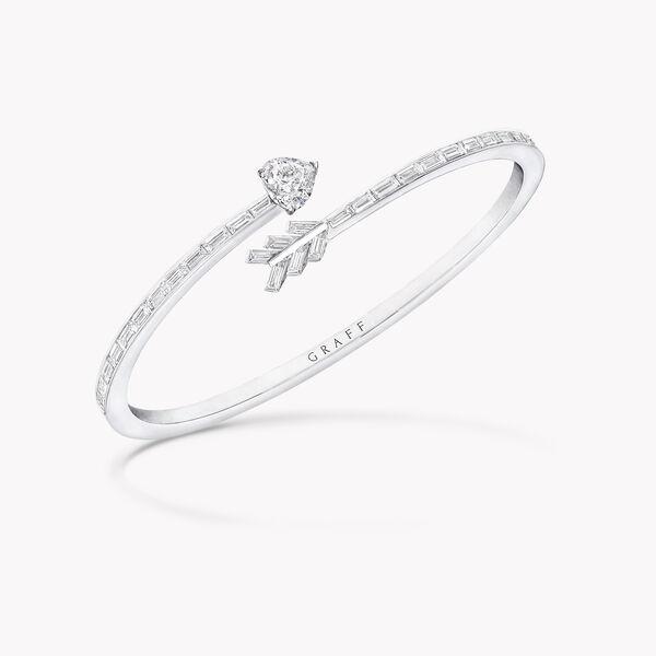 Duet Arrow Wraparound Diamond Bangle, , hi-res